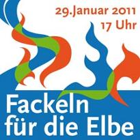 Fackeln für die Elbe 2011